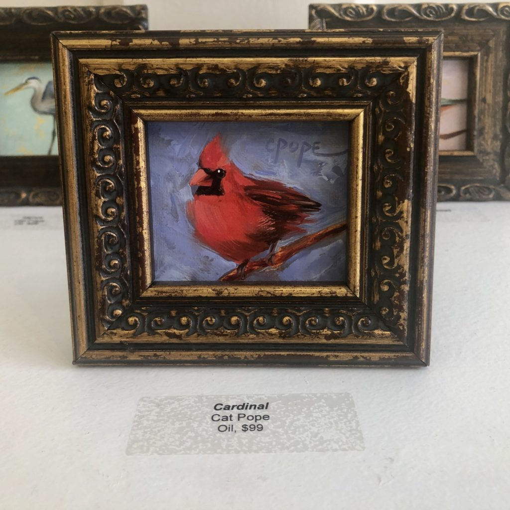 """Cardinal"" by Cat Pope, Oil"