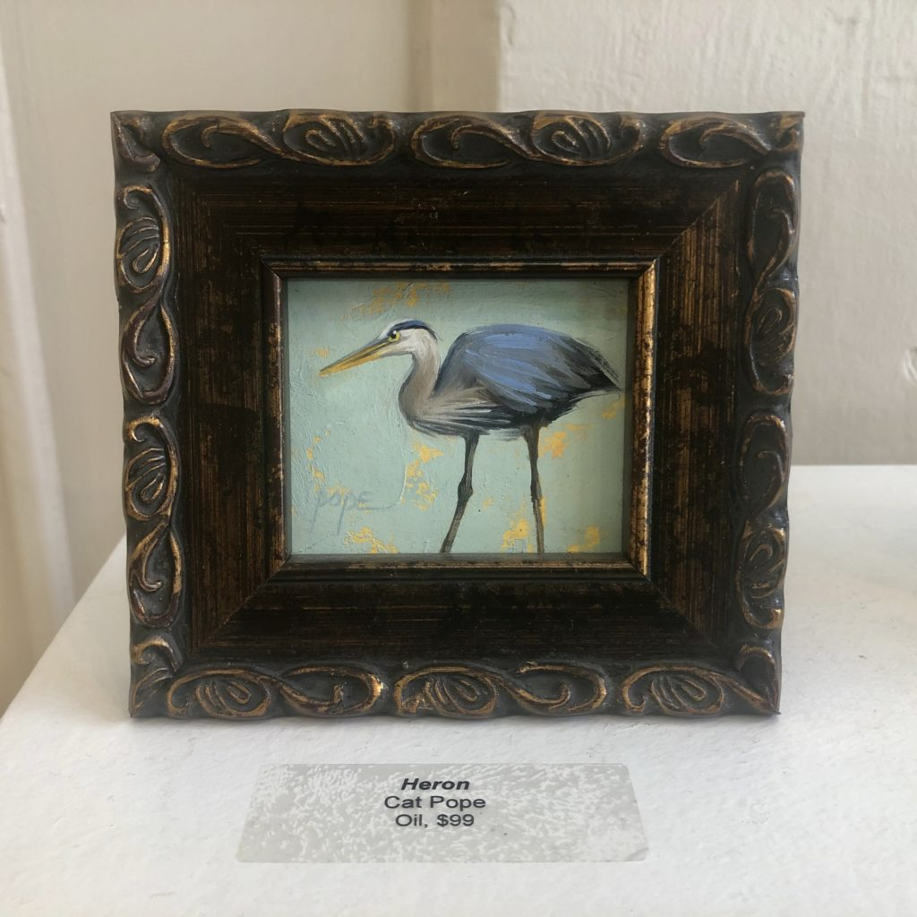 """Heron"" by Cat Pope, Oil"