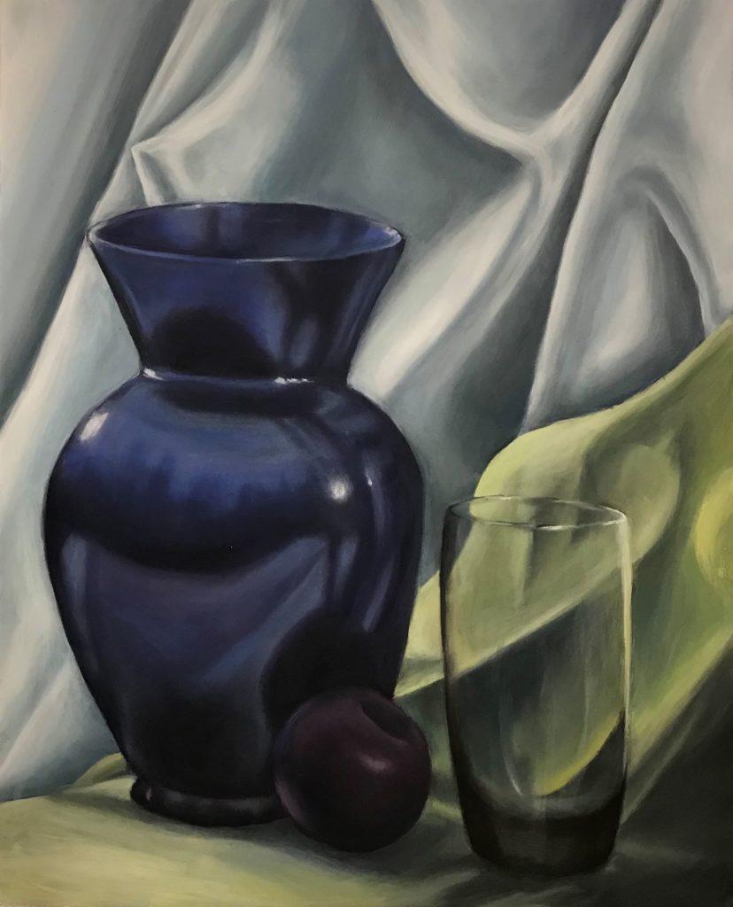"""Laura Krall, """"Vase"""", Oil"""