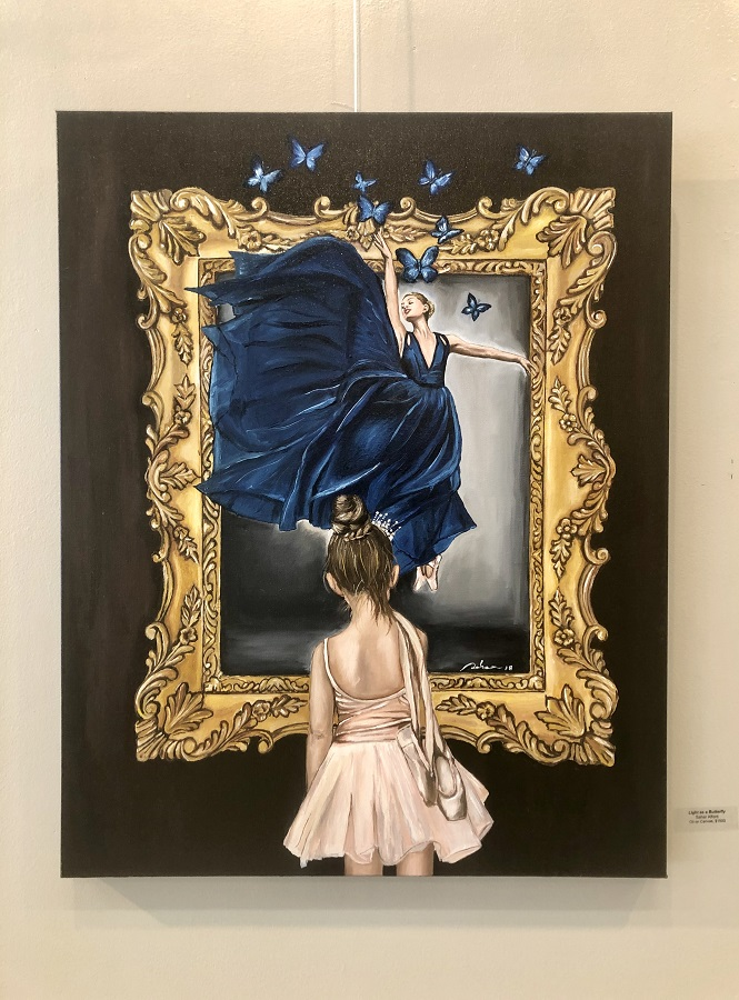 """Light as a Butterfly"" by Sahar Alford, Oil"