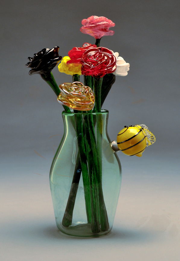 "William  Lowe II, ""Abuzz With Spring"" , Glassblowing"