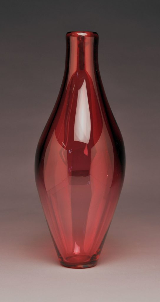 "William  Lowe II, ""Ruby Vase"", Glassblowing"