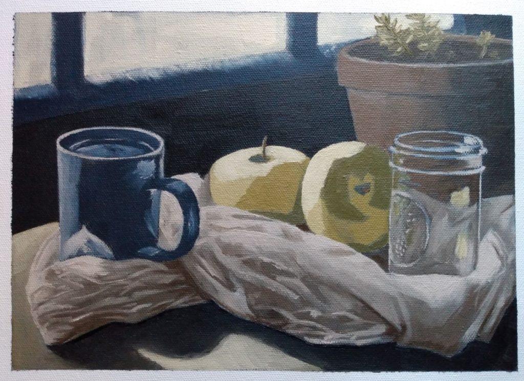 "Karla McMillan, ""Déjeuner"", Oil"