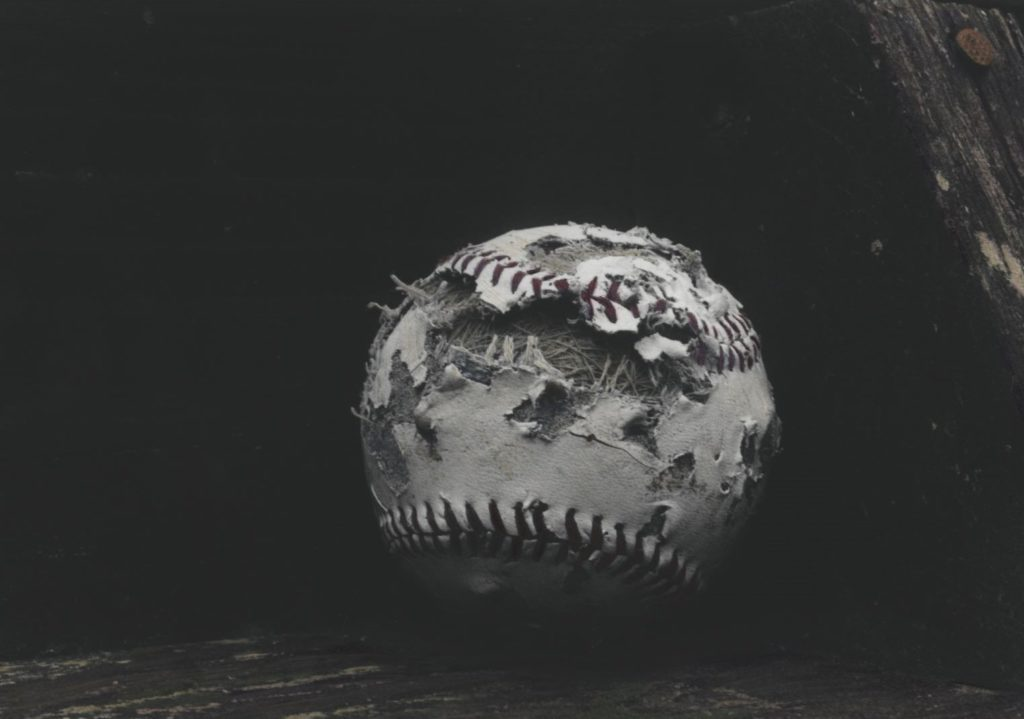 "Hallie Zimlich, ""Battered"", Silver Based Gelatin Print & Oil"