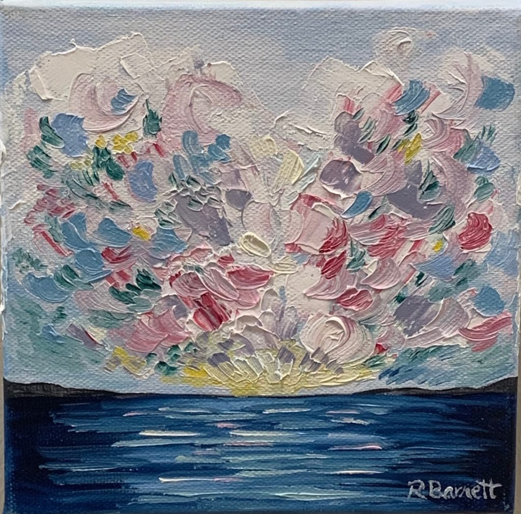 Sunset on the Sea, Reagan Barnett, $75.00