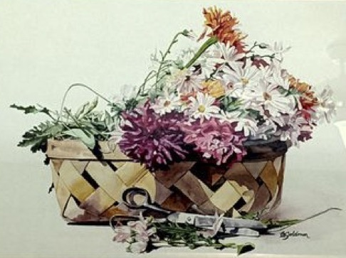 Cuttings, Corky Goldman, Watercolor, $750