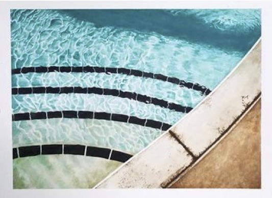 No Diving, Lynda Smith Touart, Acrylic on Arches, $650