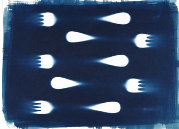 Spawning, Mike Kittrell, Cyanotype Photogram, $200