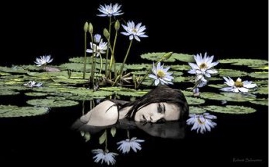 The Girl in the Pond, Robert Schroeter, Digital Painting, $120