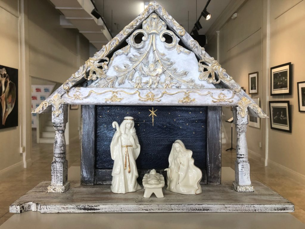 Nativity, Renee Wallace, Recycled Wood/Paper Clay/Acrylic Paint, $180