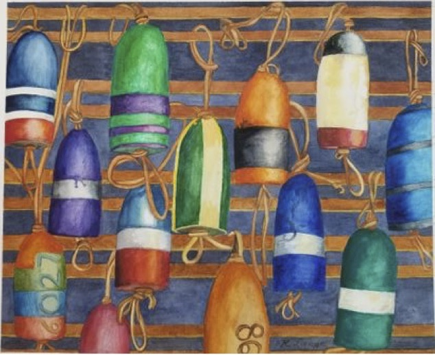Bouy oh Bouy, Ruby Lange, Watercolor, NFS