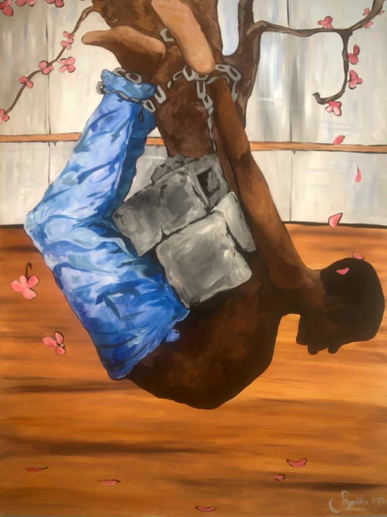 American Ballet, Soynika Edwards Bush, Acrylic on Canvas, $2,500