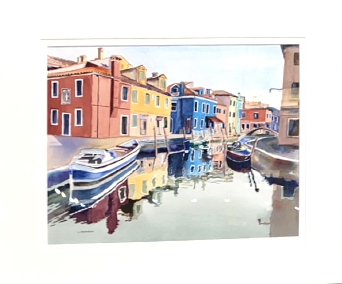 Rainbow Reflections, Judy Aronson, Watercolor on paper, $500