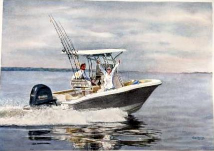 Glory in the Gulf, Corky Goldman, Watercolor on paper, NFS