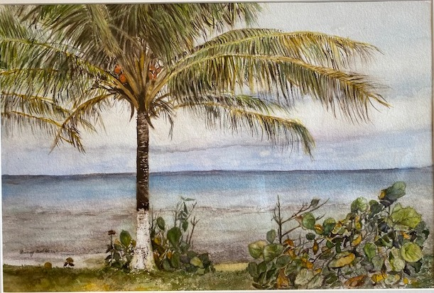 Tropical Breeze, Nancy Hora, Watercolor on paper, $1500