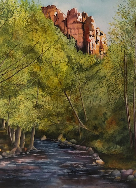 Cathedral Rock, Deborah Guy, Watercolor on Paper, NFS