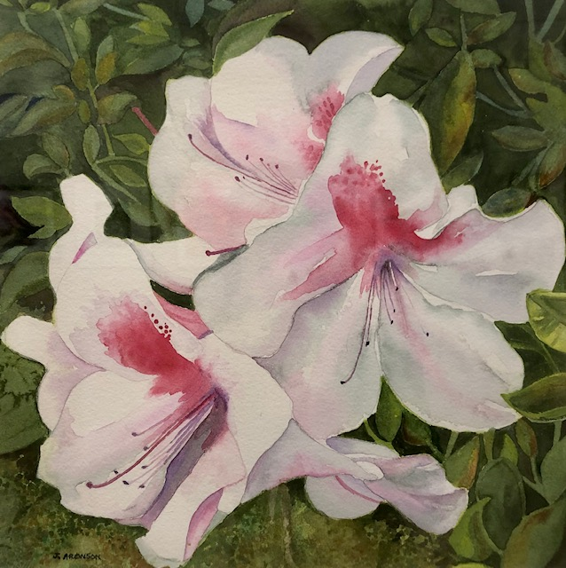 Azalea Trail, Judy Aronson, Watercolor on Paper, NFS
