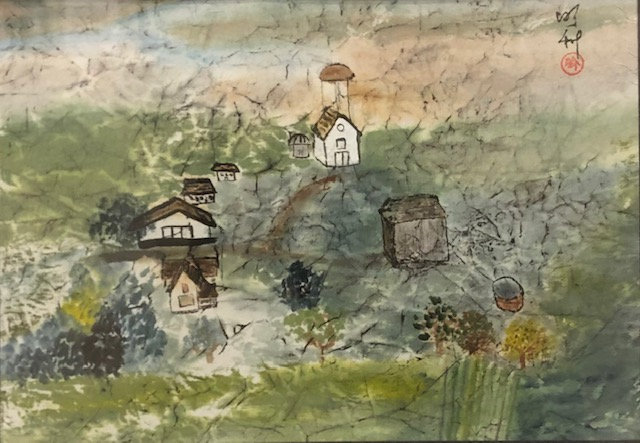 Lipke Farm Since 1888, Mary Rodning, Watercolor on  Rice Paper, $300