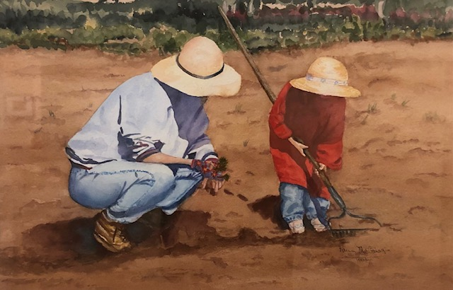 The Gifts of Gardening, Karen D. McGahagin, Watercolor on Paper, NFS
