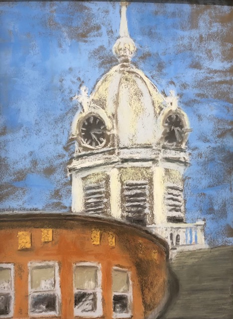 Old Monroe County Courthouse, Carolyn Greene, Pastel on Pastel Board, $375