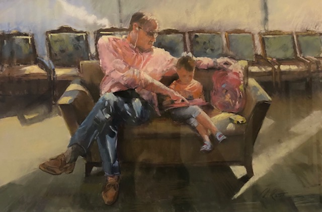 Waiting Room Lesson, Melissa Root, Pastel on Board, NFS