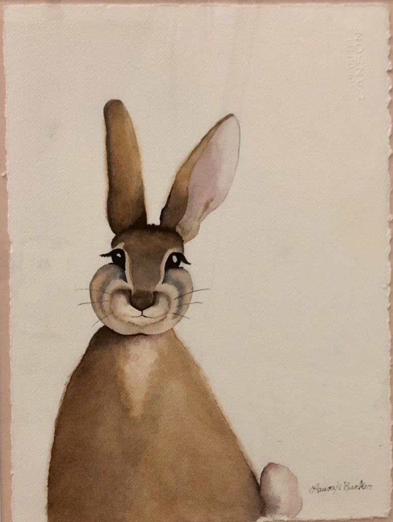 A Hare Away From the Mona Lisa, Laura Becker, Watercolor on Paper, NFS