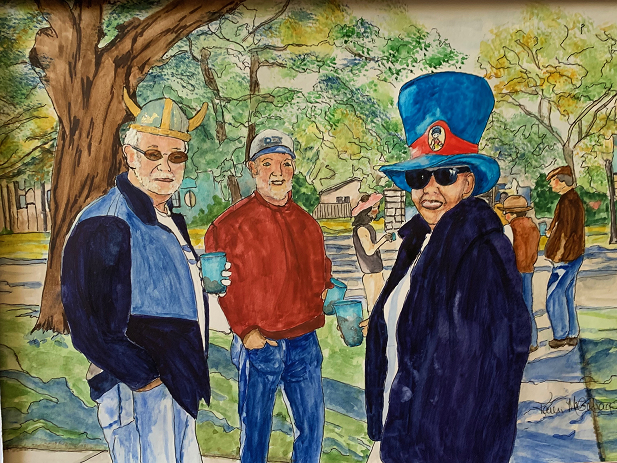 Government Street Gathering, Karen McGahagin, Watercolor, $325