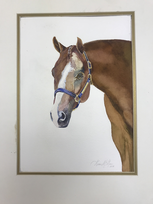 Cheval, Gina McGee, Watercolor, NFS