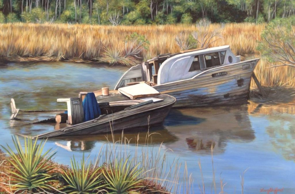 Resting Place, Lucy Gafford, Oil on Canvas, $650
