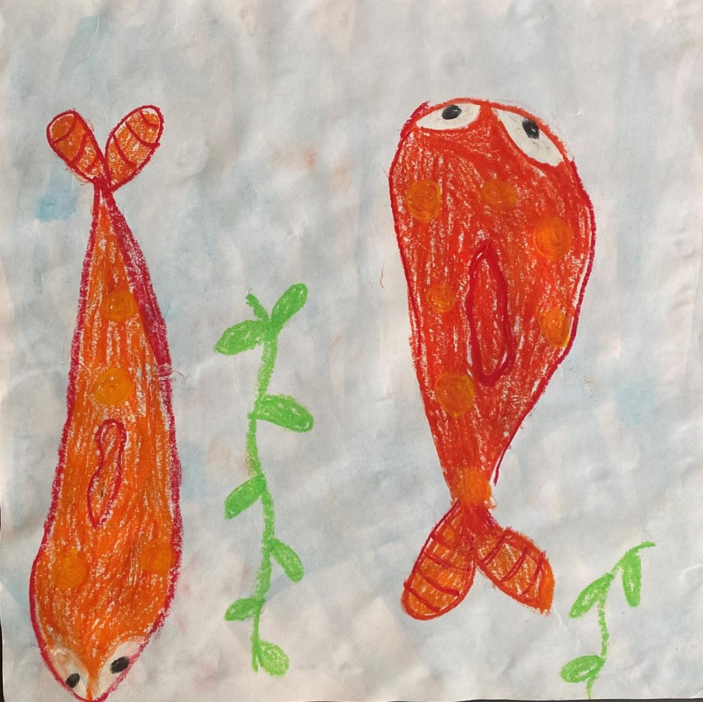 Fish Friends,  Tallulah Frank, Oil Pastels