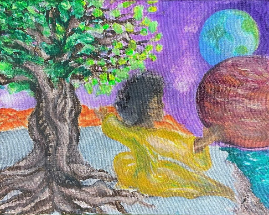 Tree of Knowledge,  Jiaya Wilson, Acrylic, $250