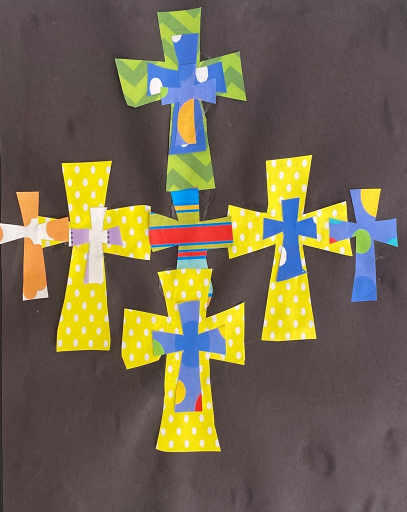 The Rainbow Cross.  Phillip Blakeney, Collage