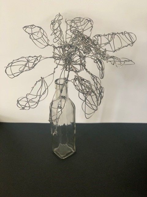 Daisy, Anna Harper Brand, 7th Grade, St. Paul's Episcopal School, 3/D Crafts, Wire Sculpture