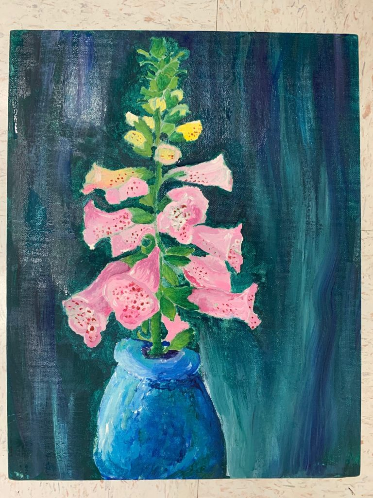Speckled Pink, Annie Boteler, 8th Grade, St. Paul's Episcopal School, Painting, Tempera Paint on Canvas Board