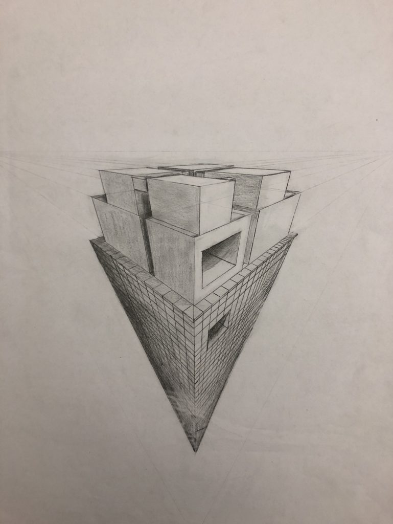 Untitled, Brandon White, 9th Grade, Bryant High School, Drawing, Graphite