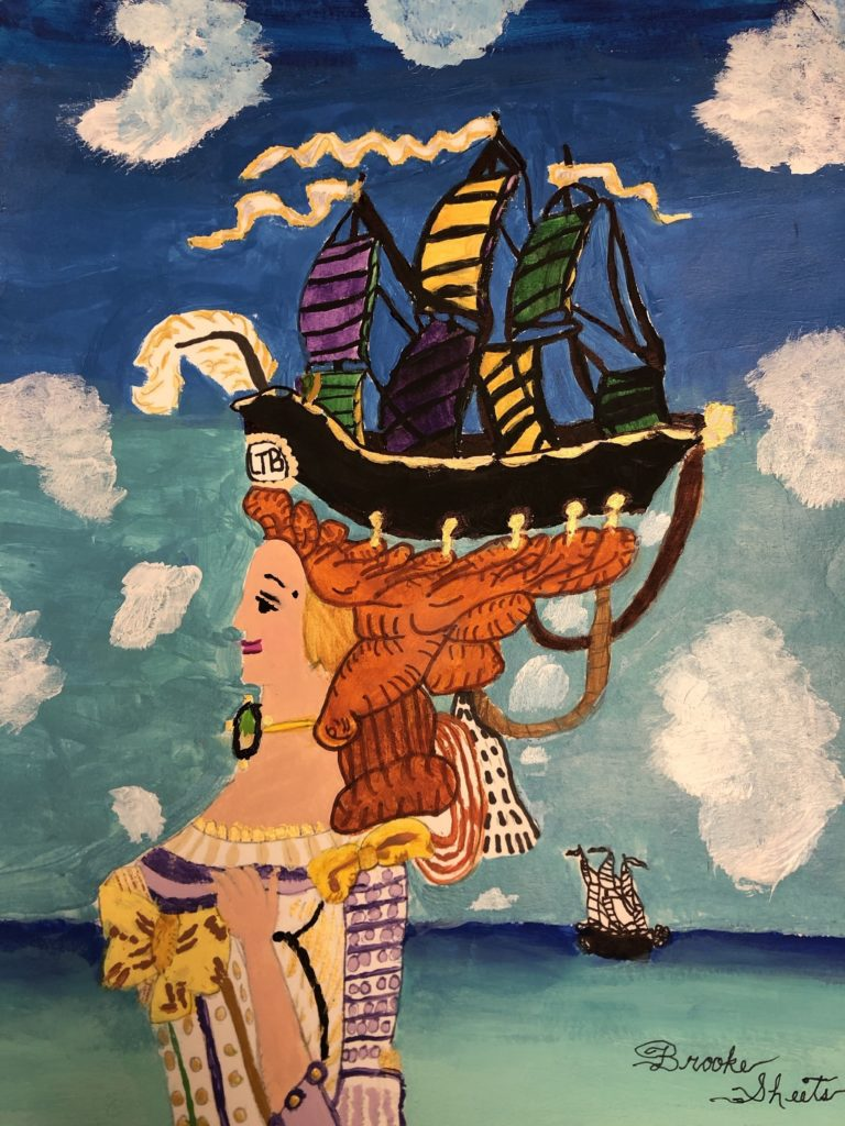 A Sight to See, Brooke Sheets, 7th Grade, Bay Minette Middle School, Painting, Acrylic
