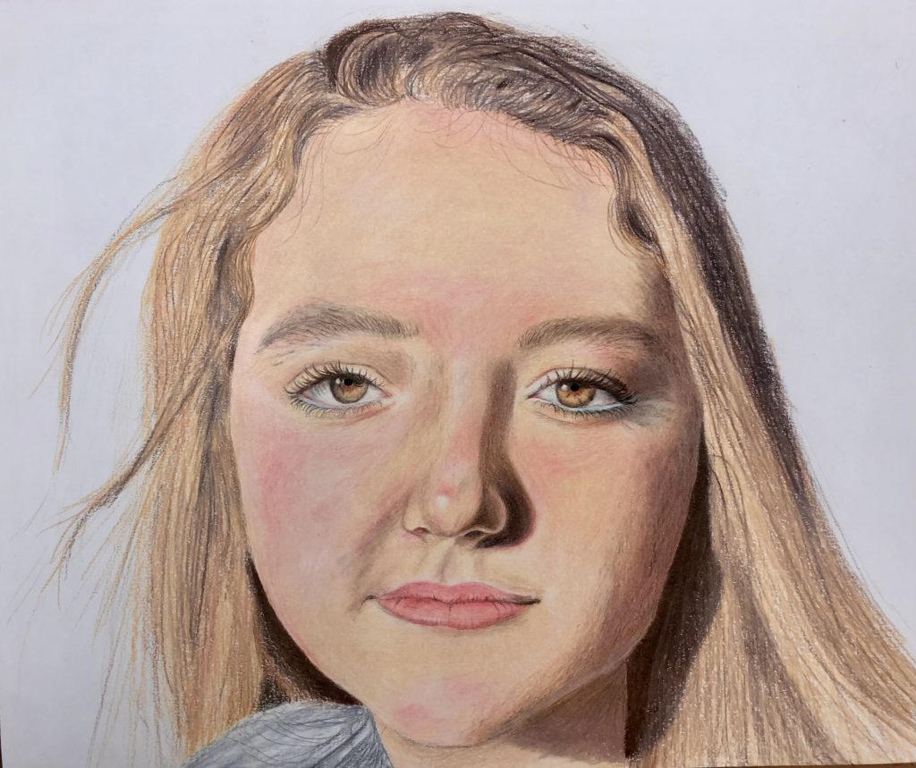 Ella, Caroline Hinckle, 11th Grade, St. Paul's Episcopal School, Drawing, Colored Pencils