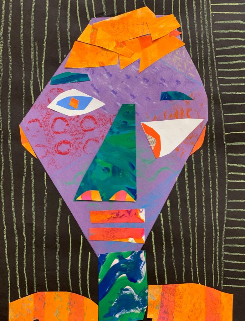 Cubism Portrait,  Chase Cordell, Cut Paper Collage