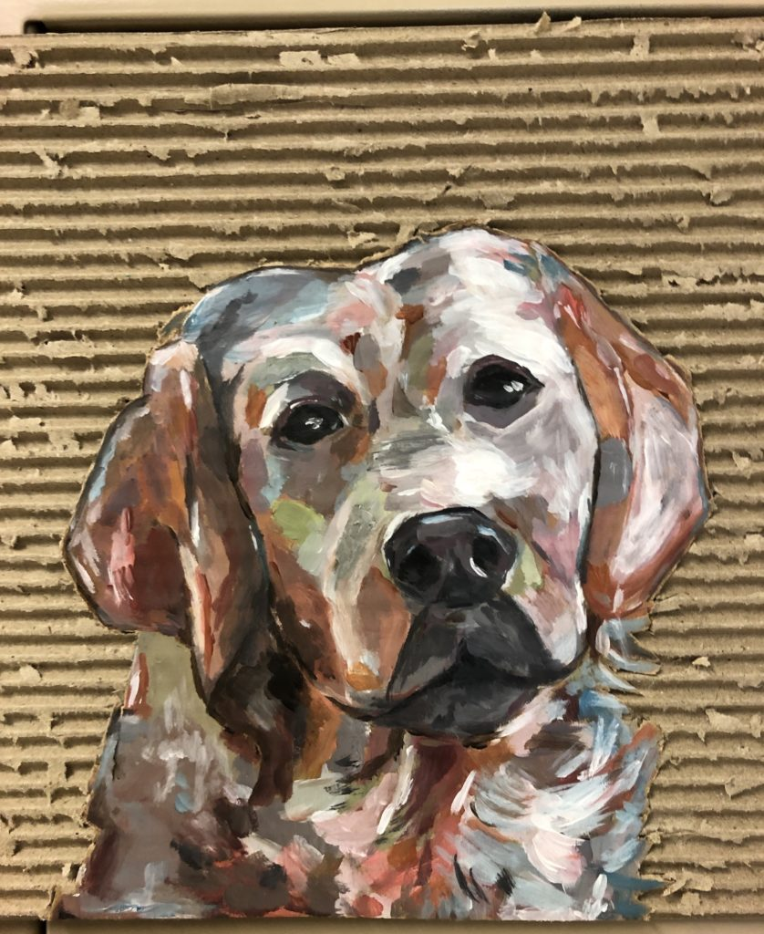 My Dog, Ella Walton, 11th Grade, Spanish Fort High School, Painting, Acrylic
