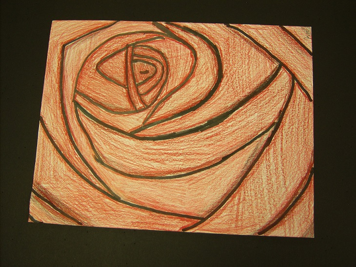 Rose, Kassidy Mosley, 7th Grade, Cranford Burns Middle School, Drawing, Color Pencils