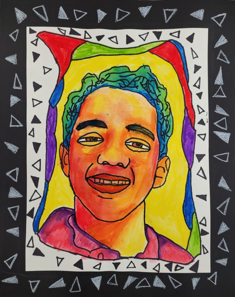 Triangular Color, Max Carney, 6th Grade, St. Paul's Episcopal School, Painting, Crayola Marker, Water, Watercolor