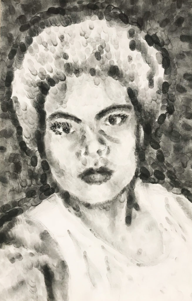 Biracial, Molly McPherson, 10th Grade, Fairhope High School, Painting, Drawing, Ink on Paper