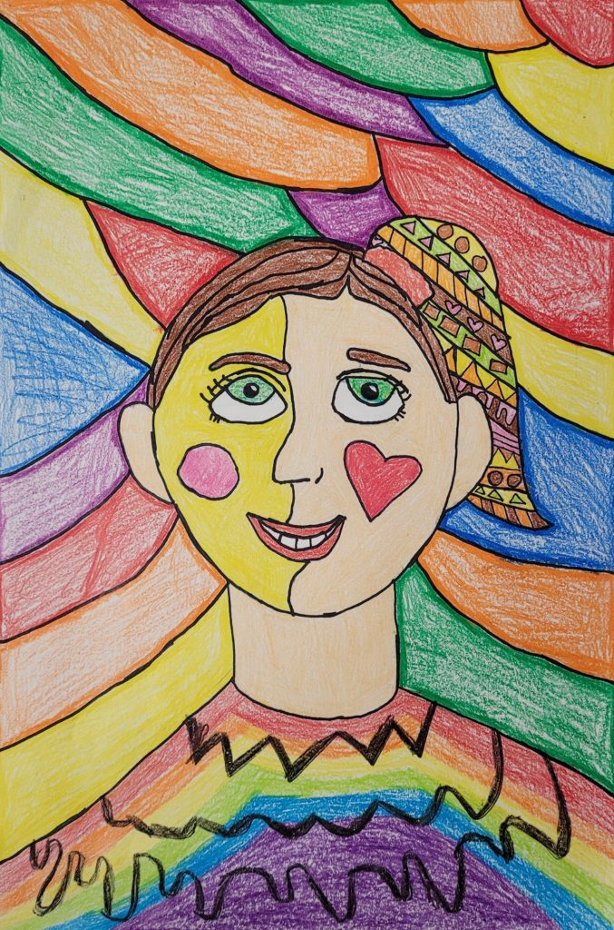 My Colorful Self, Emma McVea, Crayon