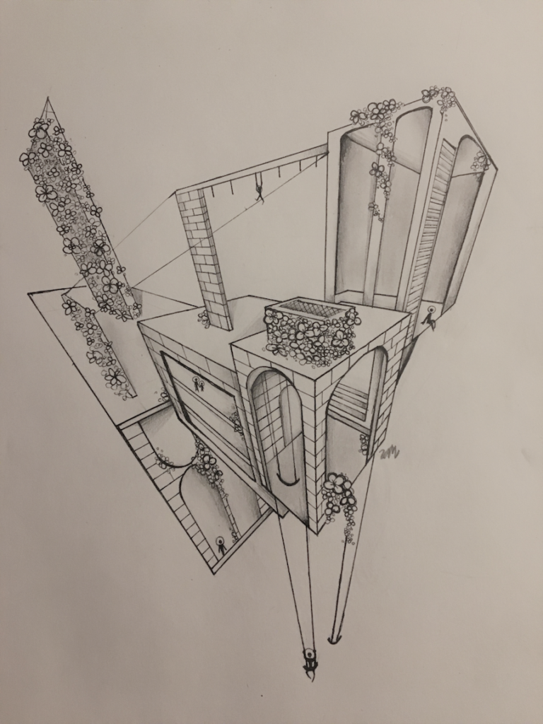 Floral Space, Wendy Mead, 11th Grade, Bryant High School, Drawing, Graphite