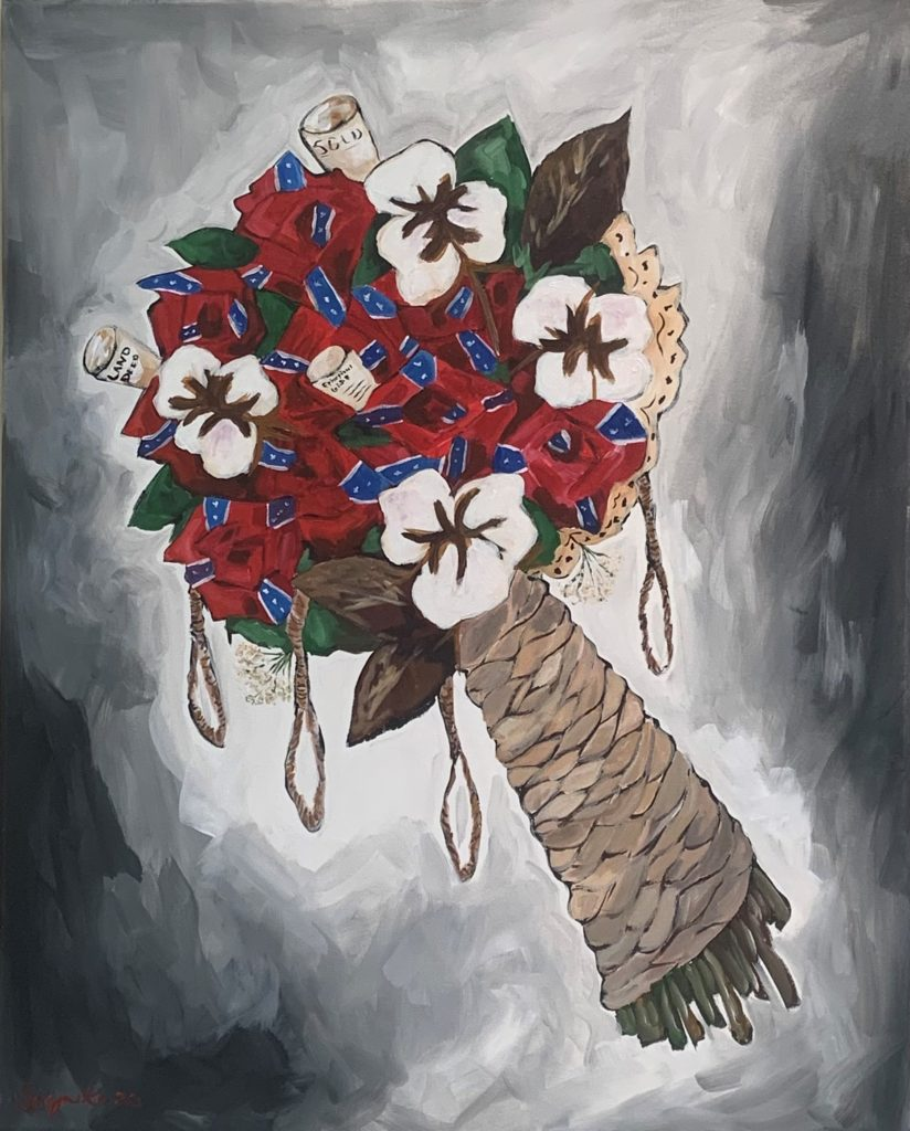 Confederate Bride,  Soynika Edwards-Bush, Acrylic, NFS