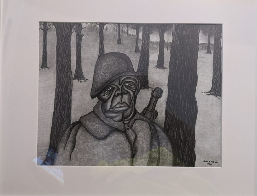The Soldier,  Jason Aldridge, Pencil, $2500