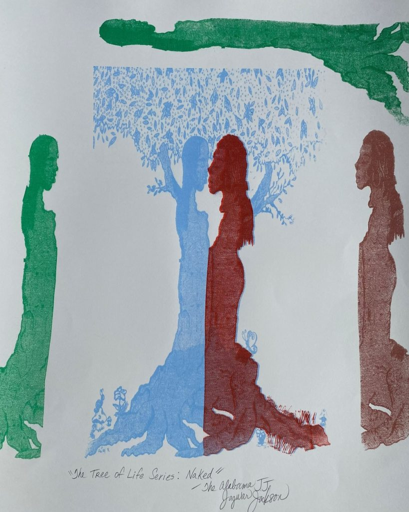 """The Tree of Life Series"": ""Naked"", Jagwar Jackson,  Screen Print, $25,000"