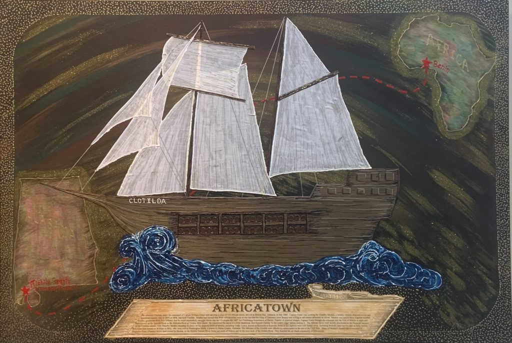 "Africatown,  Herbert ""Mannie"" Pair, Mixed Media, $5000"