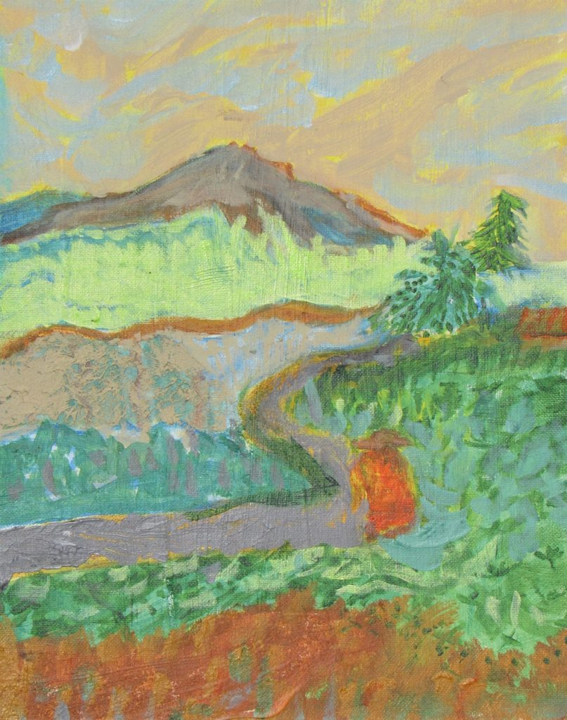 Sanctuary, Carol George, Acrylic on Canvas, $155