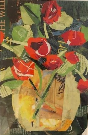 Love In Bloom 6, Sandy Holberg, Collage, $225